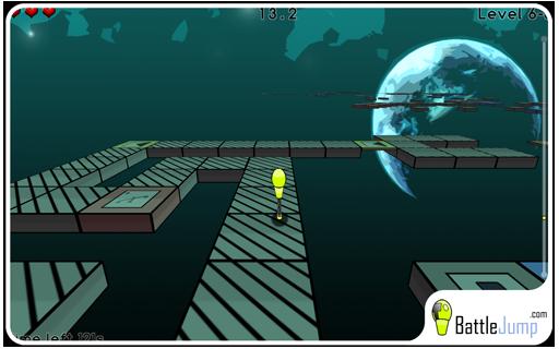 Battle Jump - jeu de course de plateformes et d'adresse en 3D réalisé en C++ / OpenGL